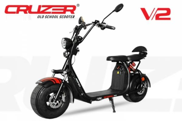 Nitro Motors Scooter EEC Eco Cruzer V2 1500W 8 Zoll 60V mit Zulassung Lithium-on Batterie
